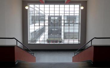 Window in Dessau Bauhaus