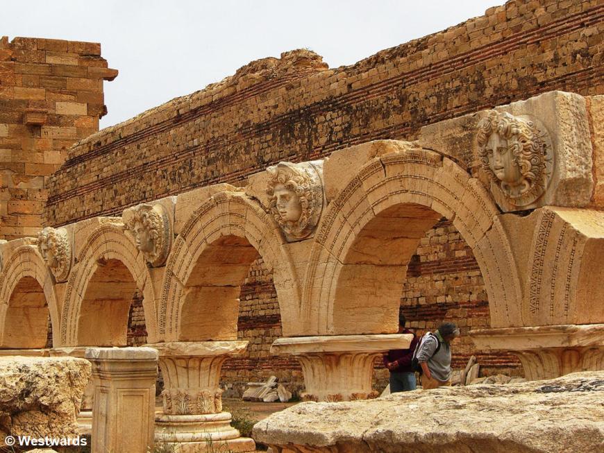 Roman arches in the Leptis Magna Forum