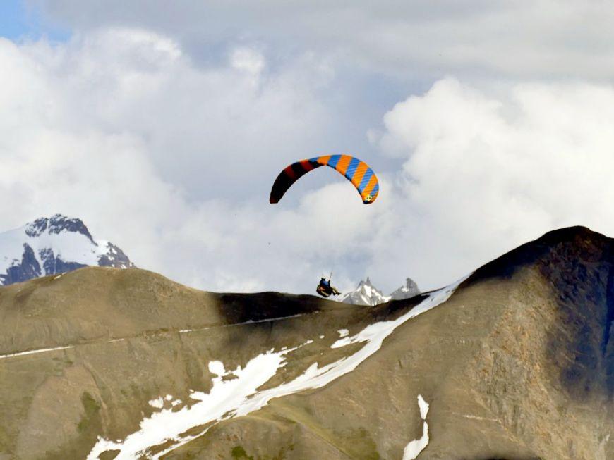 Paraglier over the Aletsch Arena in Valais