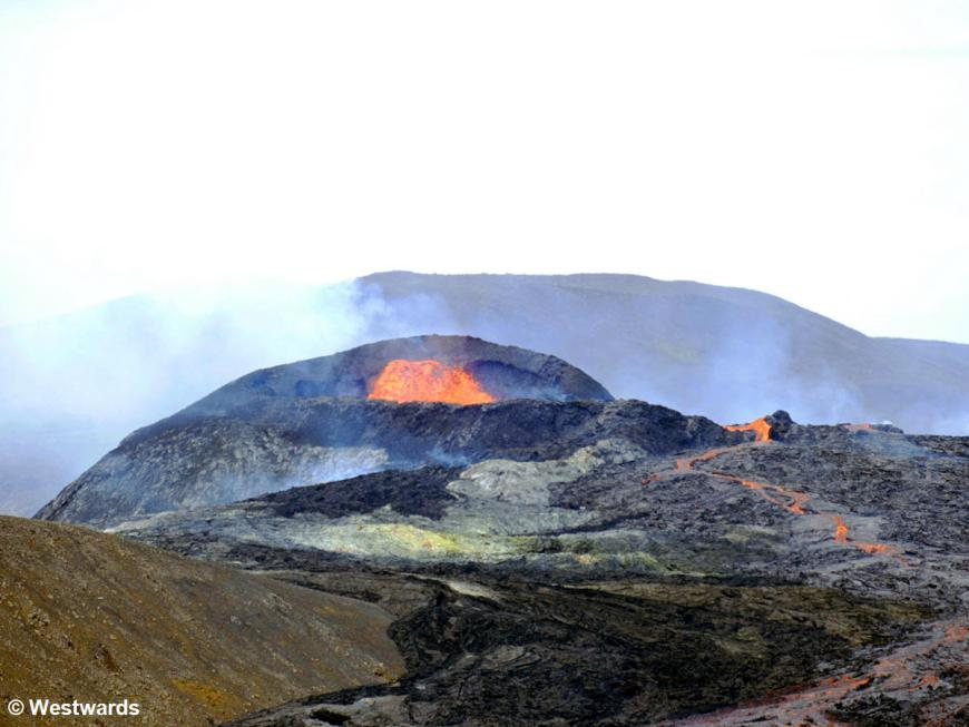 Watching the eruption of the Fagradalsfjall volcano was an absolute highlight!