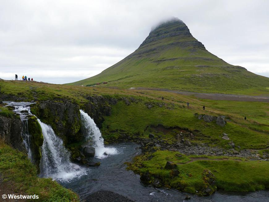 Kirkjufell mountain, one of the top tourist attractions in Iceland
