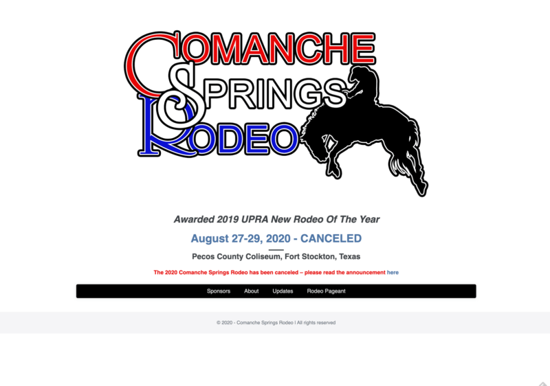Comanche Springs Rodeo