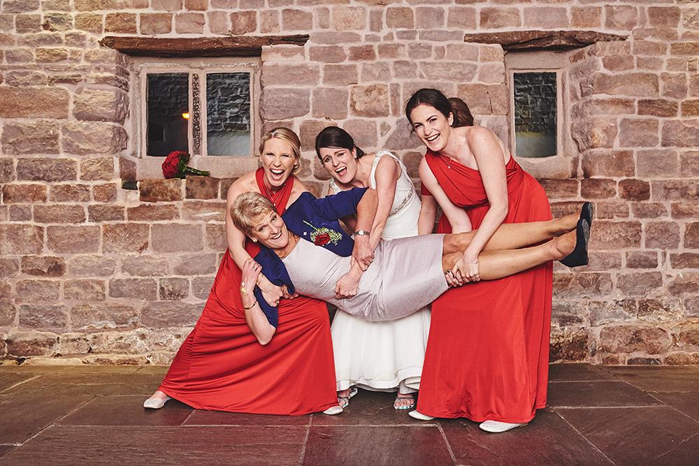 Fun bridal party photography