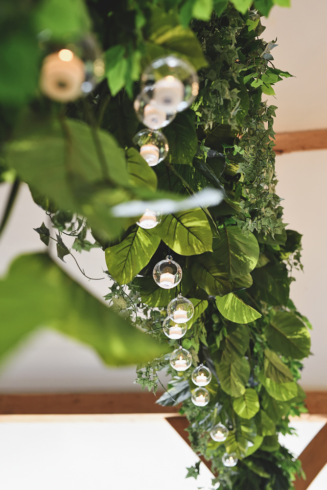 Oak beam decorations - Sandhole Oak Barn Wedding