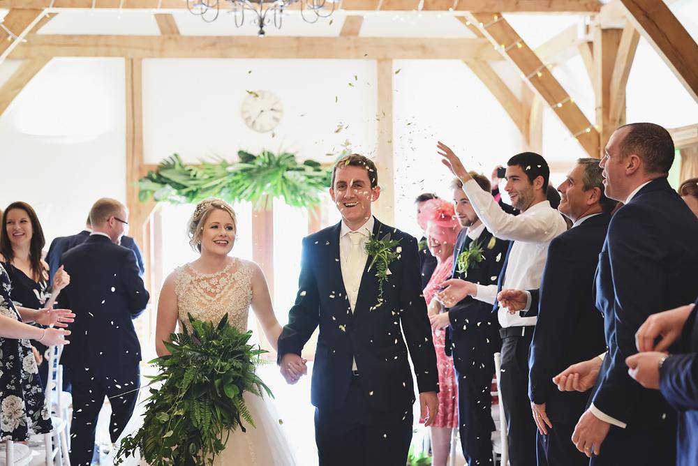 Confetti - Sandhole Oak Barn Wedding
