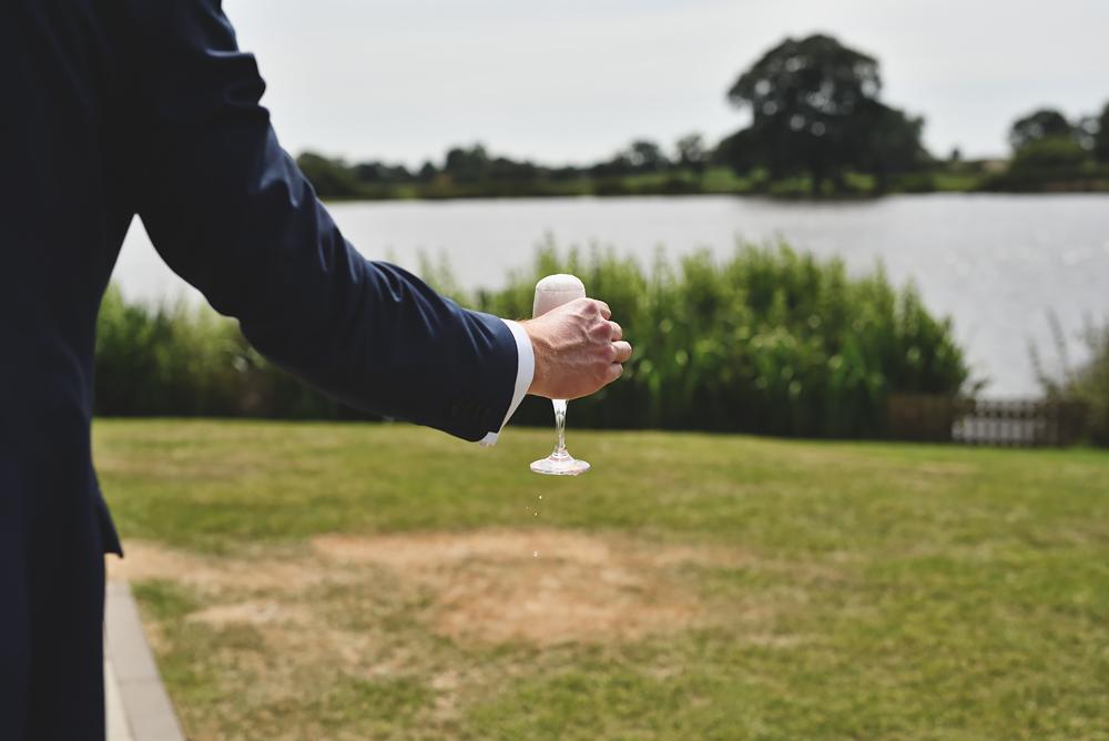Champagne - Sandhole Oak Barn Wedding