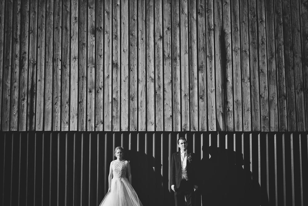 The Bride and groom - Sandhole Oak Barn Wedding