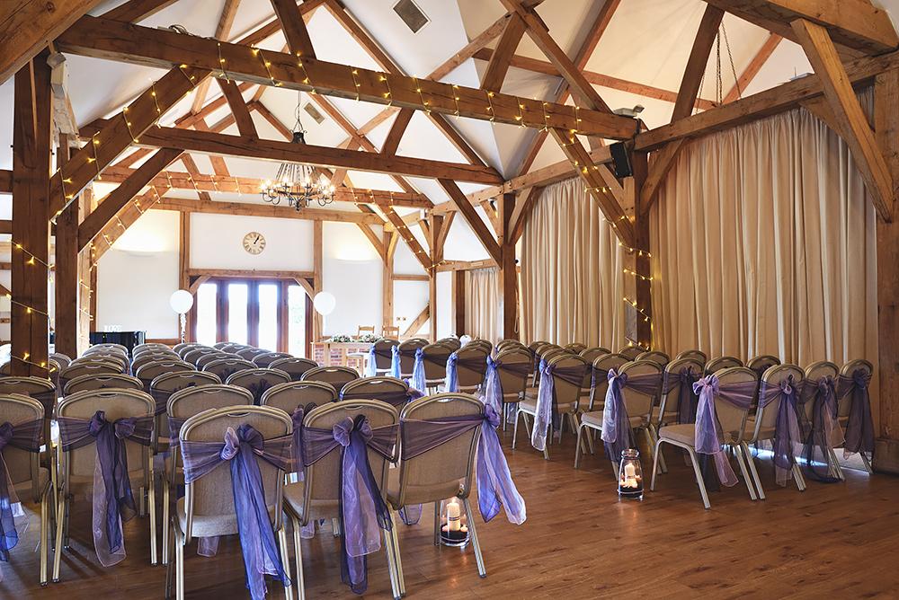 Ceremony Room - Sandhole Oak Barn Wedding in Cheshire