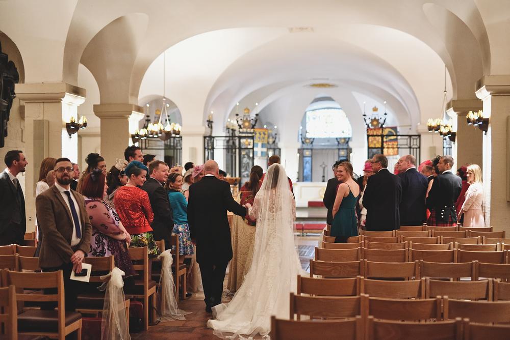 St Paul's Wedding Photographer - Entering the Crypt