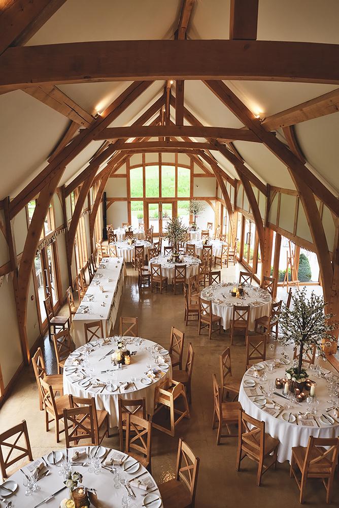 Tower Hill Barns Wedding Venue - Set up for wedding reception
