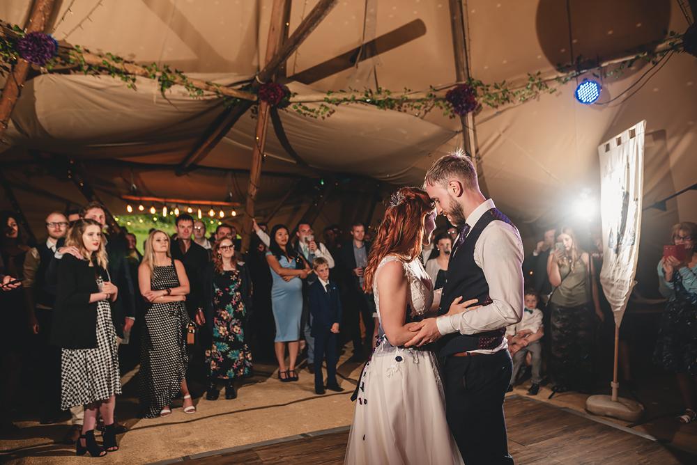 First dance - Whitebottom Farm Wedding in Stockport