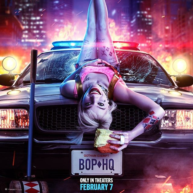 Birds of Prey Review Harley Quinn on a car