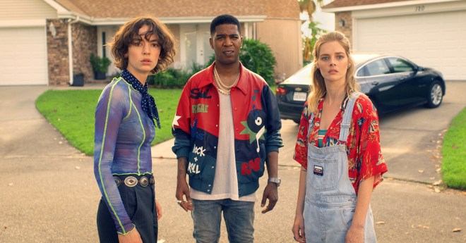 Brigette Lundy Paine Kid Cudi and Samara Weaving star in BILL TED FACE THE MUSIC rgb 2