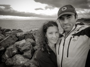 Black & White, Me and Laura at the coast