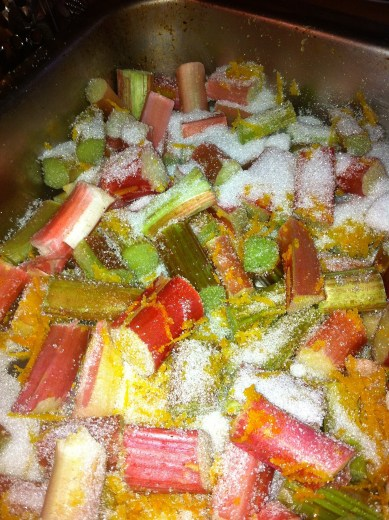 rhubarb roasting