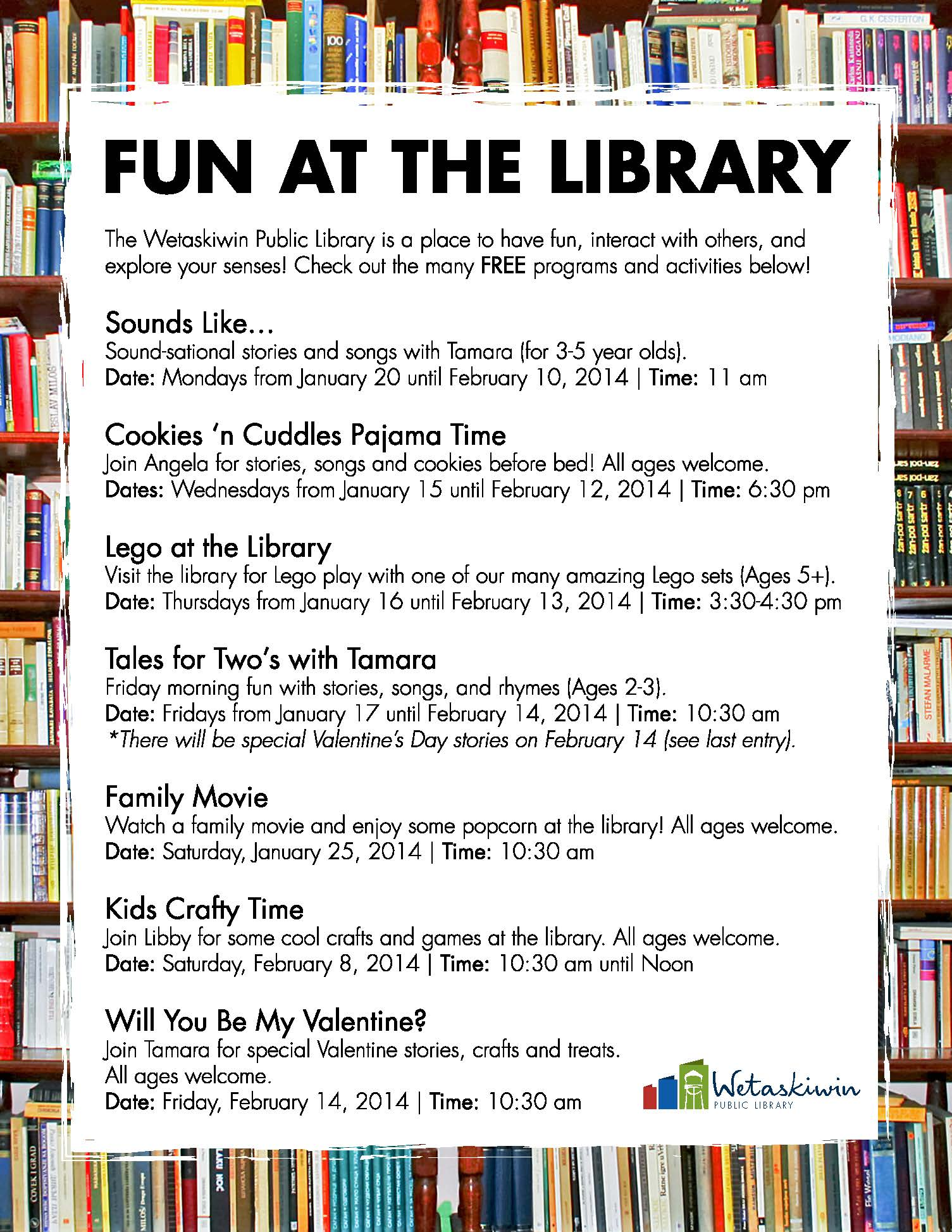 Free Programs Amp Activities At The Wetaskiwin Public