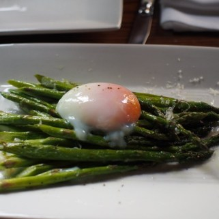 Asparagus, Parmesan, 63° Egg at Modern Steak