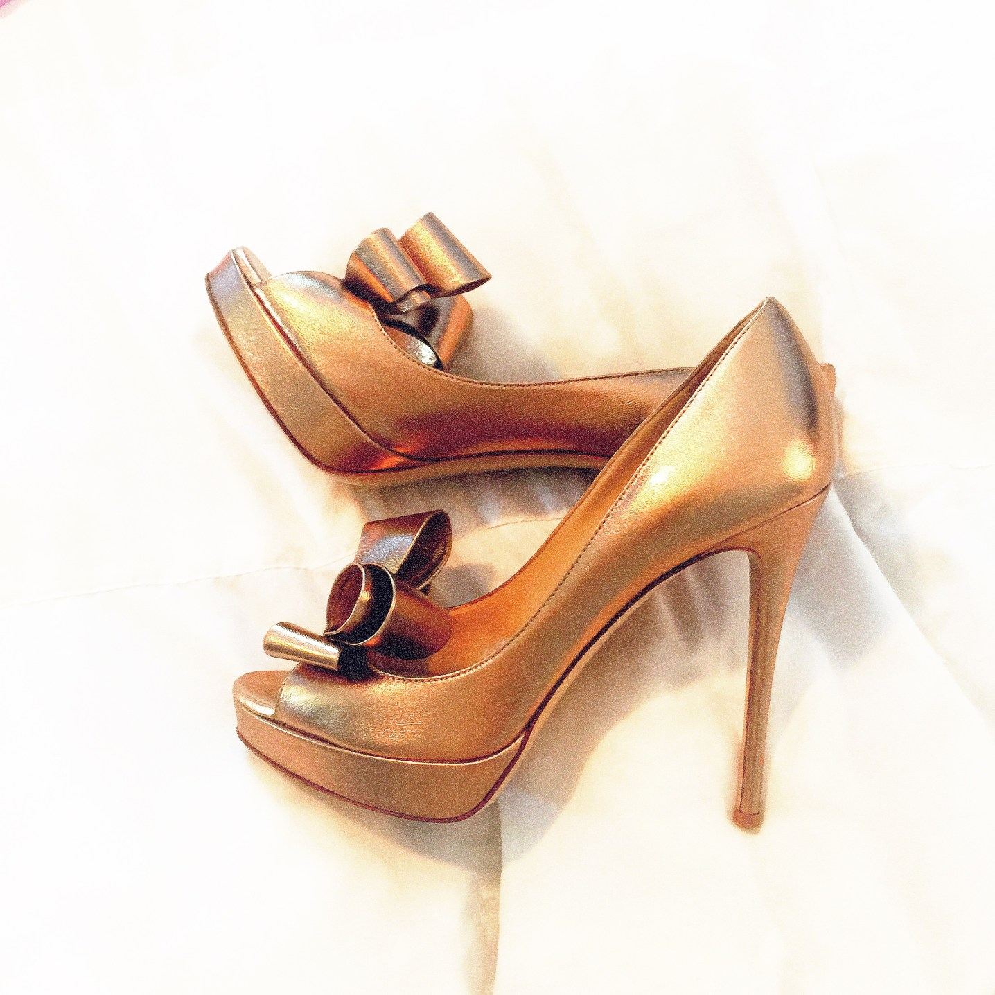My gorgeous Valentino bow pumps that were a wedding gift from my husband (justifying the price tag of them)