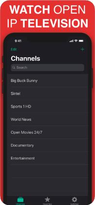 Reprodução de streams de TV e transmissão de IPTV
