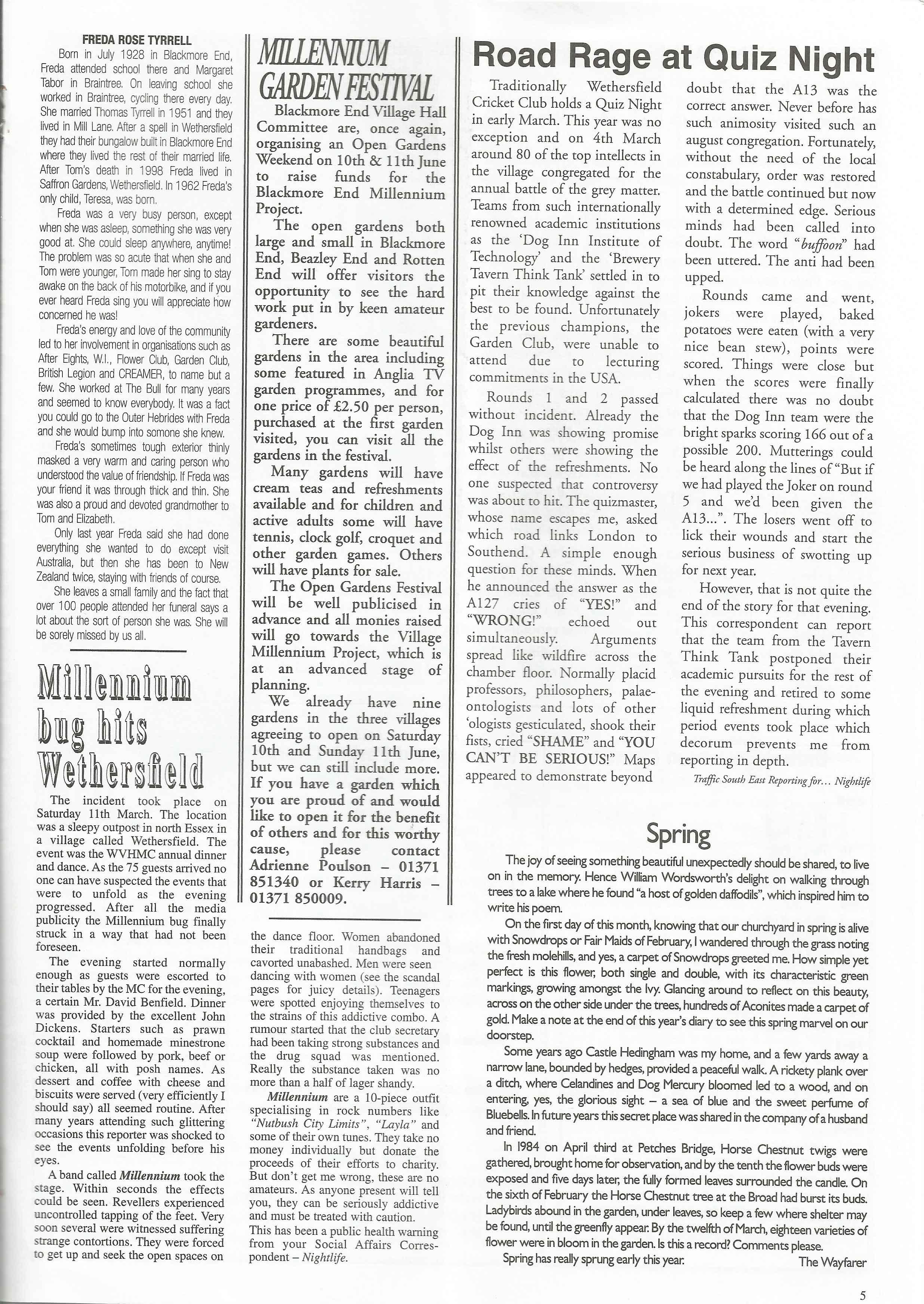 Wethersfield News April
