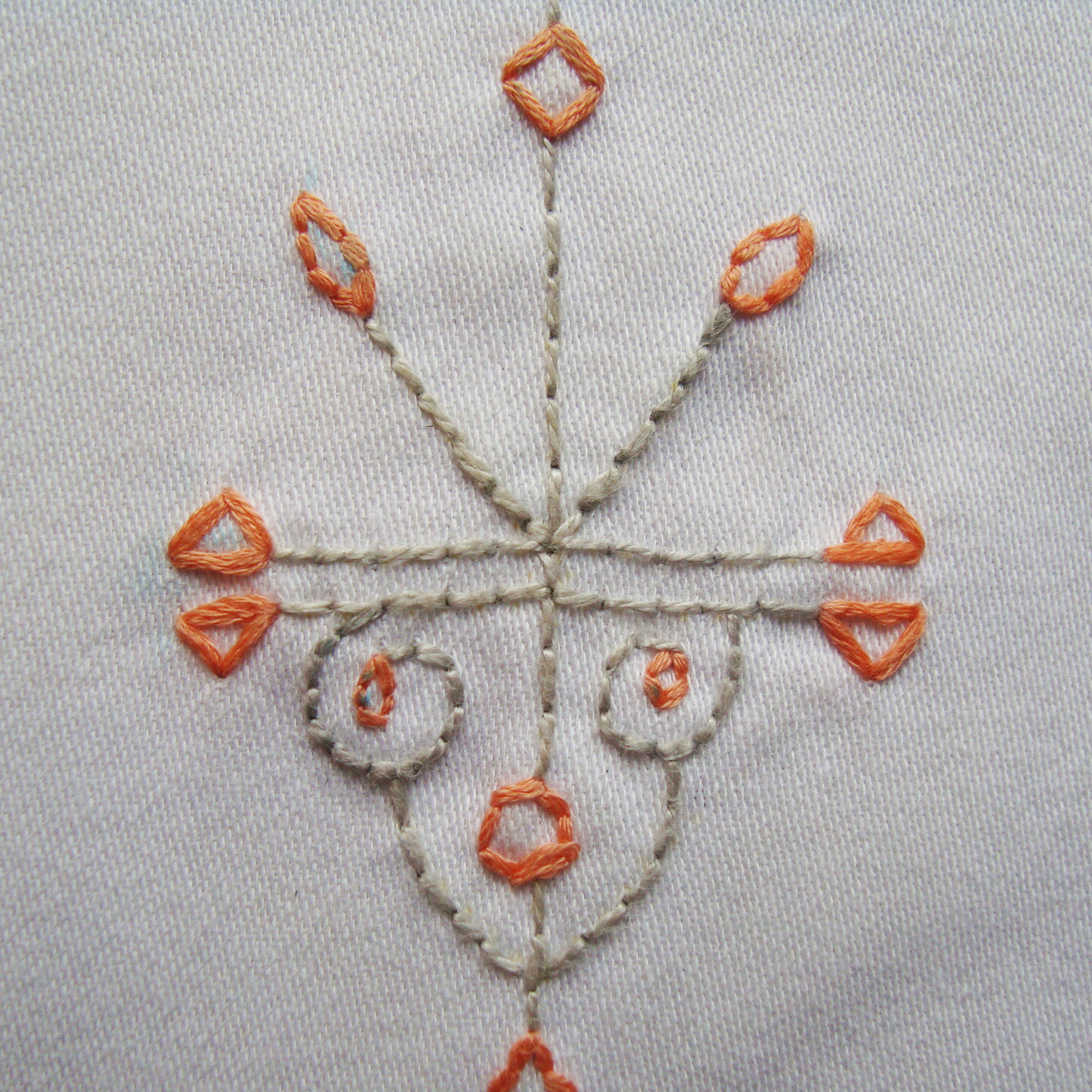 Tutorial hand embroidery on clothes we the sewing
