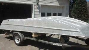 1996 Aluminum Sea Ark ready for bottom paint