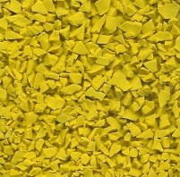 Bright Yellow Wet Pour Rubber