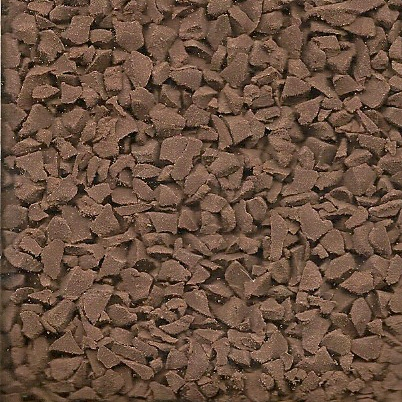 Brown wet pour rubber granules