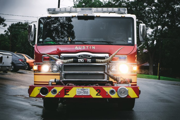 Firefighters truck in Texas