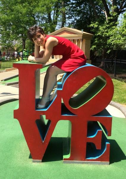 Best Things to Do in Philadelphia Pennsylvania Irene Levy Baker by Rachel Baker mini golf in Franklin Square LOVE sign