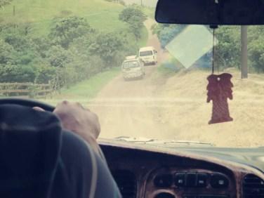 Die Wege in Monteverde könnte man als ein großes Schlagloch bezeichnen