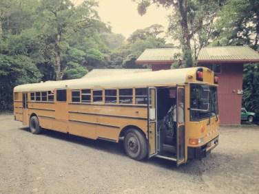 Der Bus von Santa Elena nach Monteverde