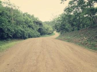 Der Weg zum Strand ist lang und heiß - 20 Min Busfahrt + 3 km Fußweg