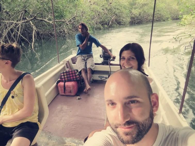 Mit Mauricio & Sandra ging's durch die Mangroven