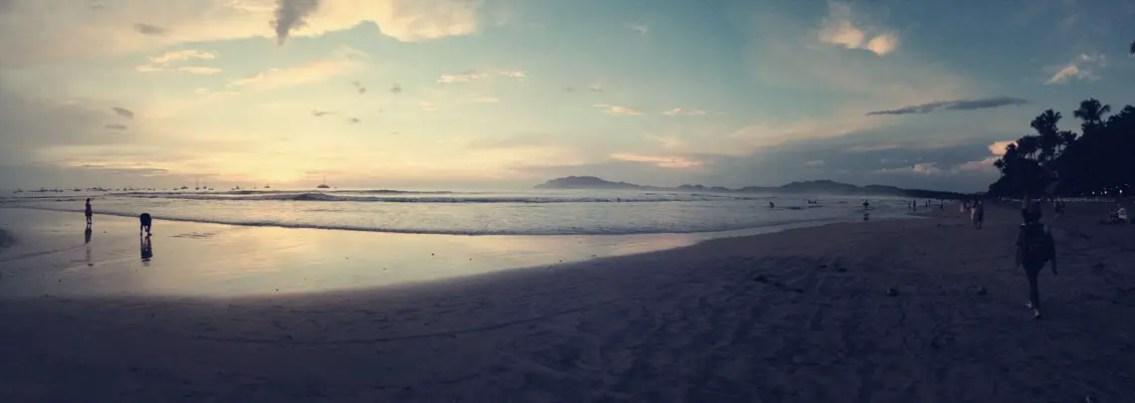 Playa Tamarido bei Abenddämmerung