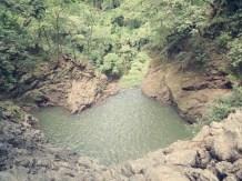 Blick auf's zweite Wasserfallbecken - darunter befindet sich direkt der erste