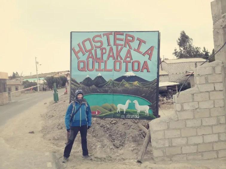Unser Hostel für die eiskalte Nacht in Quilotoa