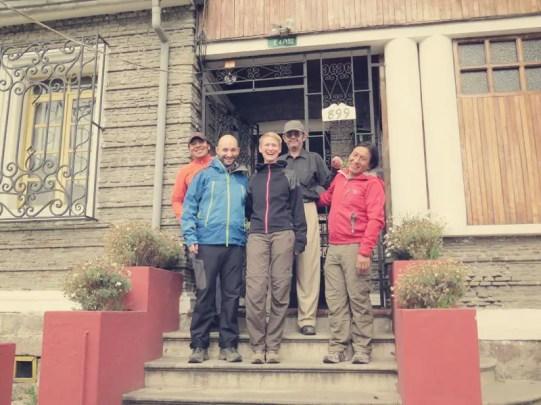 Kingdom Kichwa Hostel, Luis, Jose und Chasky (v. l.)