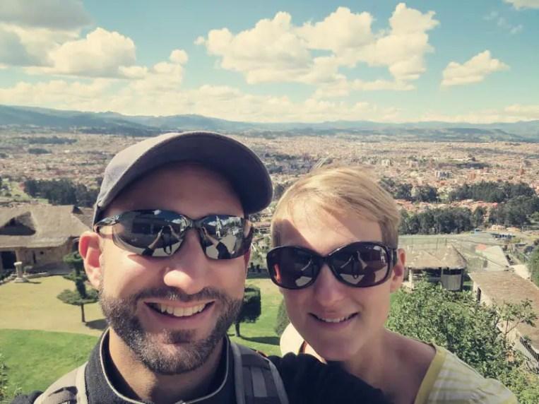 Im Hintergrund liegt Cuenca