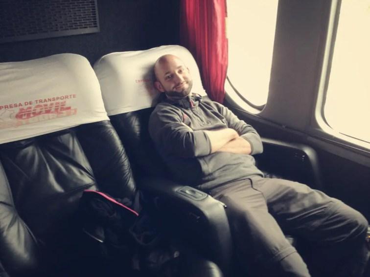 Business Class im Bus