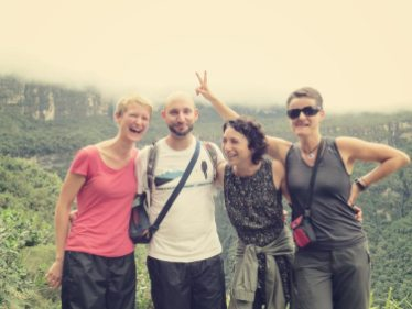 Mit Caroline und Dani haben wir den Trek gut überstanden und hatten Spaß