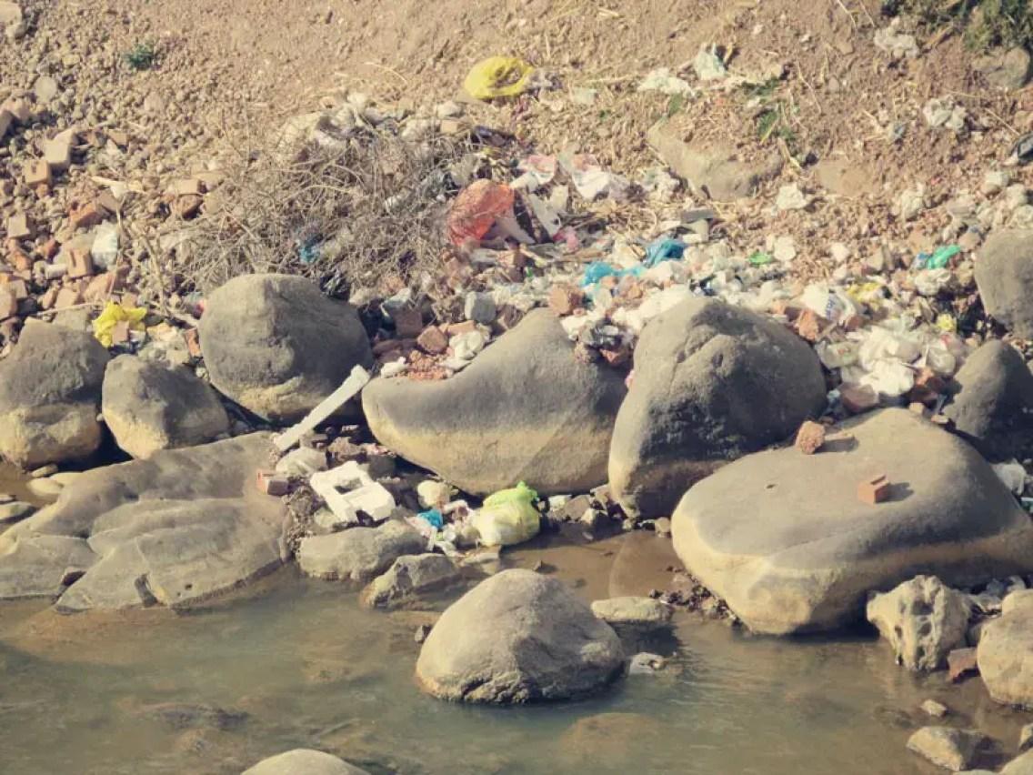 Leider sind auch hier überall die Flüsse zugemüllt