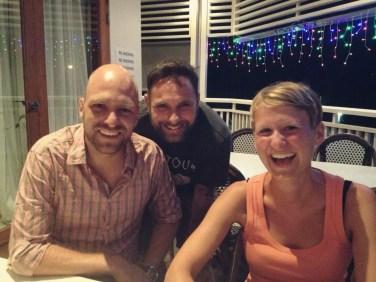 Am Abend zuvor hatten wir viel Spaß mit Geert und Wayne