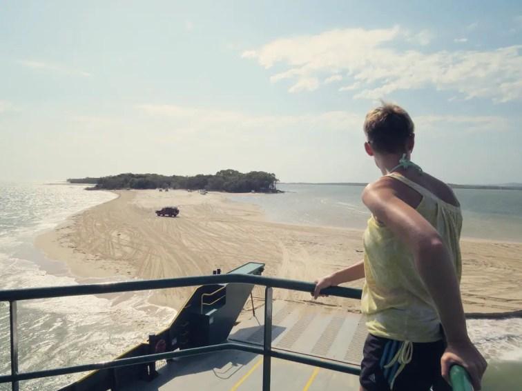 Wir legen ab nach Fraser Island