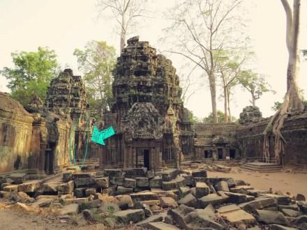 Stegosaurus Dekor - Angkor Wat - Dinosaur - Ta Prohm Tempel - Tomb Raider Temple