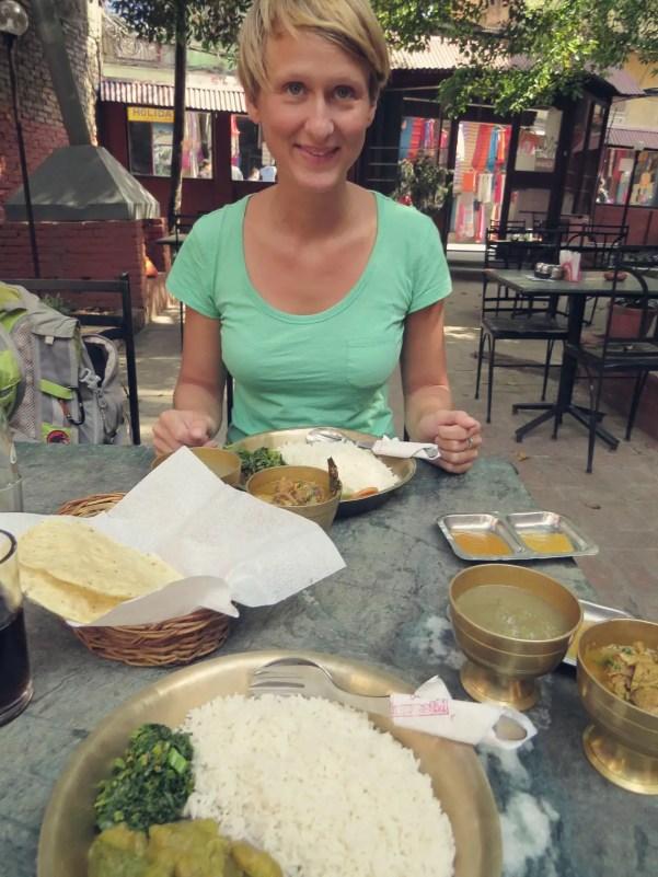 Das erste Dal Bhat war noch köstlich ...
