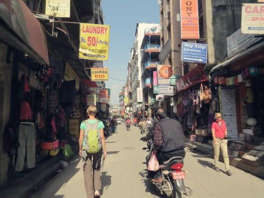Die Straßen von Kathmandu