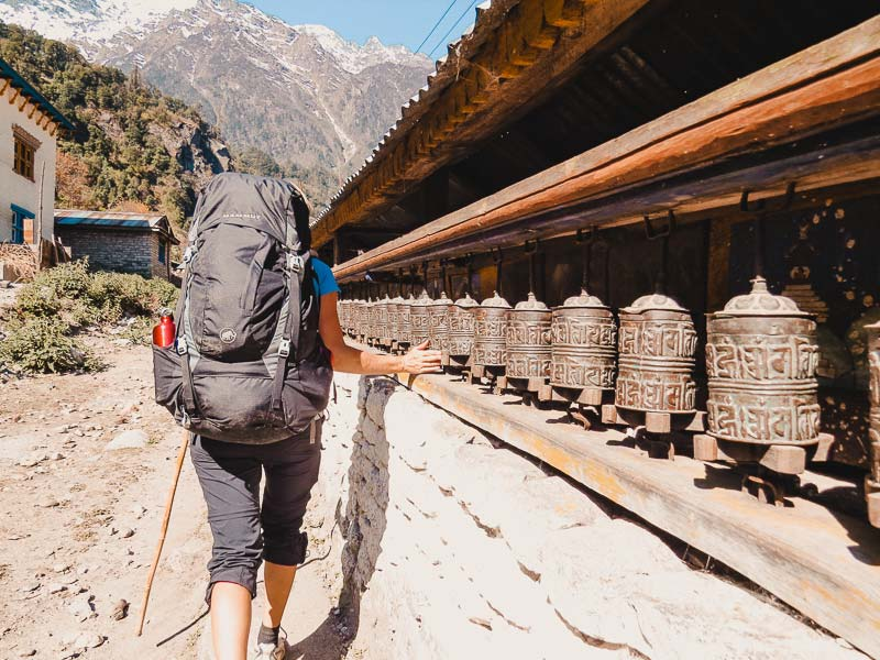 Annapurna Circuit Gebetsmuehlen