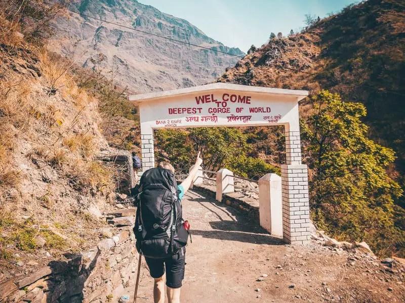 Nepal tiefste Schlucht der Welt