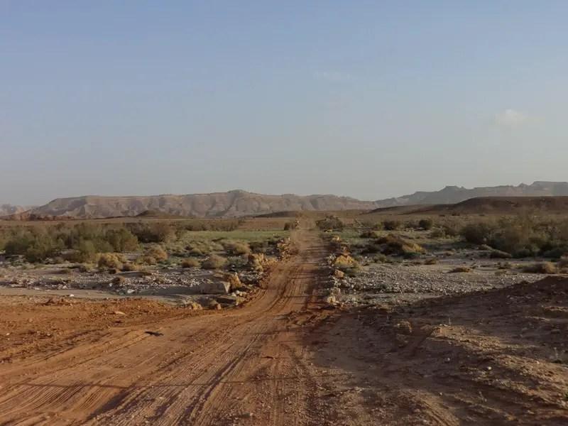 Fahrt durch die Wüste Negev